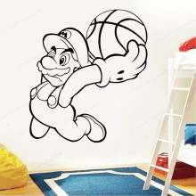 Vinyl Wall Sticker Basketball Cartoon Art Decorations for Boys Kids Room wall decal removable wall art mural JH125 movie cartoon characters wall sticker vinyl boys room wall decor movie wall decal art mural jh377