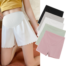Summer Thin Ice Silk Maternity Short Legging Adjustable Belly Underpants Clothes for Pregnant Women Loose Soft Pregnancy