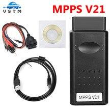 MPPS V21 V18 V13.02 V13 K CAN Flasher Chip TuningโปรแกรมECU Remap OBD2 MPPS V21 V13.02 Professionalสายวินิจฉัย