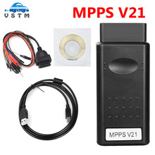 Mpps v21 v18 v13.02 v13 k pode chip flasher tuning ecu programador remap obd2 mpps v21 v13.02 cabo de diagnóstico profissional