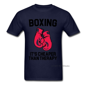 100% Cotton Fabric T-Shirt Men's T Shirts Boxer Tshirt Box Cheaper Than Therapy Letter Tops Fitness Tee Summer Clothes Cool 1