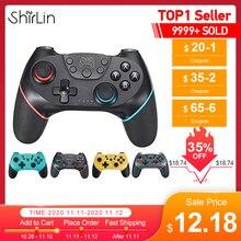 2020 บลูทู ธ Pro Gamepad สำหรับ Nintendo สวิทช์คอนโซลวิดีโอเกมควบคุมการเล่นเกม USB จอยสติ๊ก N  สวิทช์ NS Switch Pro NS ไร้สายมินิ Gamepad ที่มีแกนจับ