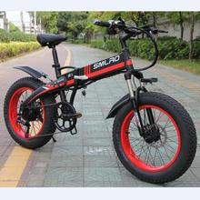 Electric-Bike Foldable 20inch-Fat-Tire Mountain-48v 500W Snow S9F And with 7-Speed