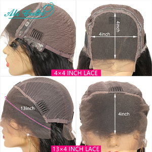 Image 5 - Ali Grace Straight Lace Closure Wigs 4x4 Closure Wig Human Hair Wigs With Baby Hair Brazilian 13x4 Lace Front Human Hair Wigs