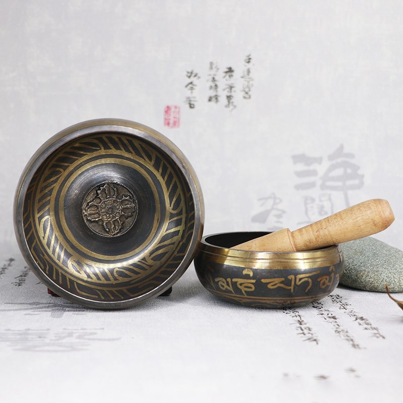 Tibetan Singing Bowl Decorative wall dishes Home Buddhism Decoration Dharma Monks Lama Supplies Chakra Nepal Handmade Bowl|Bowls & Plates| - AliExpress