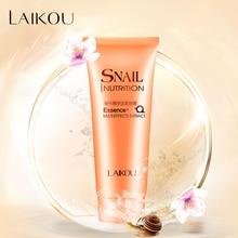 Snail Facial Cleanser Organic Natural Gel Daily Face Wash Anti Aging Scrub Exfoliating Gel Deep Pore Cleansing Skin Care LAIKOU недорого