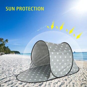 Automatyczny namiot kempingowy na zewnątrz wodoodporny anty UV namiot plażowy Ultralight namiot rozkładany automatycznie lato morze słońce schronienia markiza parasolka
