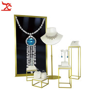 Showcase Stand Plating Stainless Steel Holder Jewelry Background Board Advertising Promotion Showing Jewelry Shop Window Display