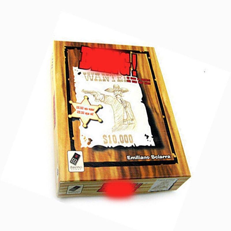 Bang jogo de tabuleiro cartão de papel 5-7 jogadores jogo de tabuleiro da família versão chinesa