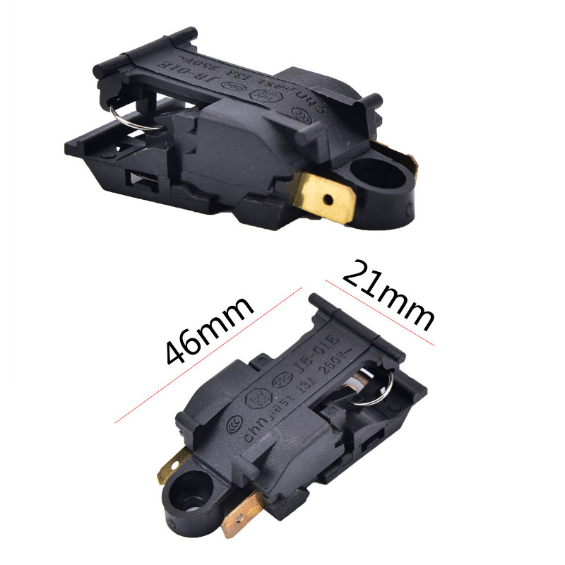 2pcs/lot 46x21mm 13A Electric Kettle Thermostat Switch 2 Pin Terminal Kitchen Appliance Parts