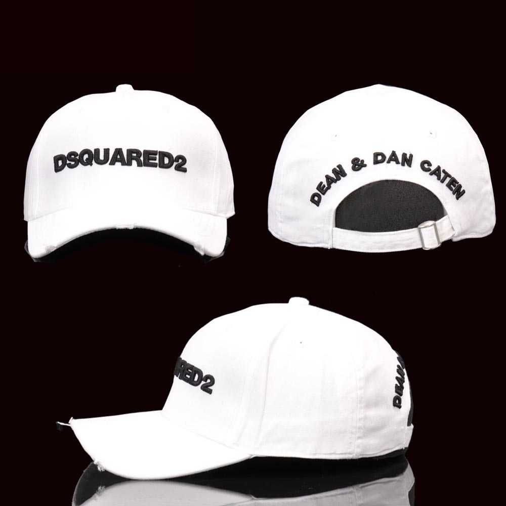 Men's Embroidered Baseball Cap Embroidered Baseball Cap Cotton DSQUARED2 Hip hop Style Unisex