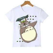 Kawaii totoro t camisa crianças engraçado dos desenhos animados japoneses spirited afastado crianças roupas estúdio ghibli anime gráfico tees meninos/meninas topo