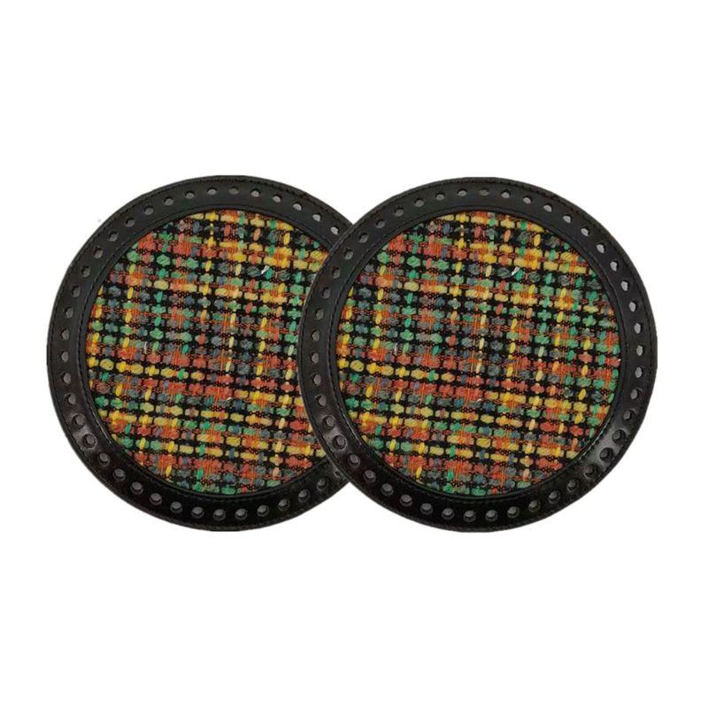 2pcs DIY Knitting Crochet Bag Leather Nail Bottom Base Shaper ReplaceMant Bags