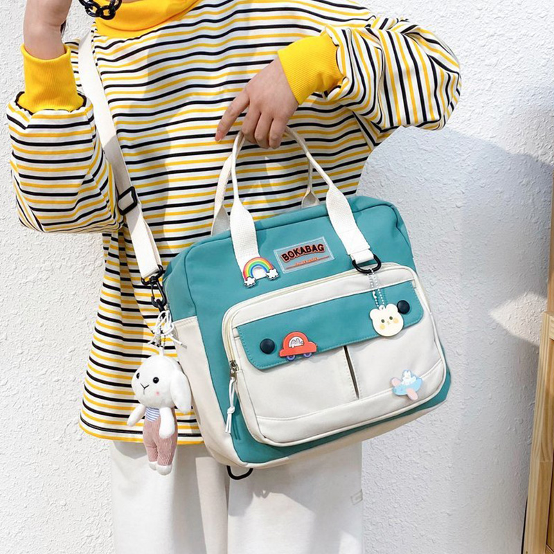 Women Small Cute Rabbit Backpack Female Student College Schoolbag Girls Badge Book Backpack Kawaii Ladies Fashion Shoulder Bags