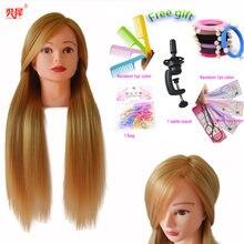Gorąca sprzedaż fryzjer lalki głowy do oplatania włosy blond głowa manekina fryzura peruka głowa kobieta głowa fryzjerska treningowa