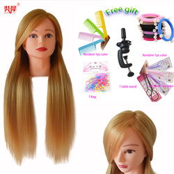 Hot Sale Hairdresser Dolls Head For Braiding Blonde Hair Mannequin Head Hairstyle Wig Head Female Hairdressing Training Head