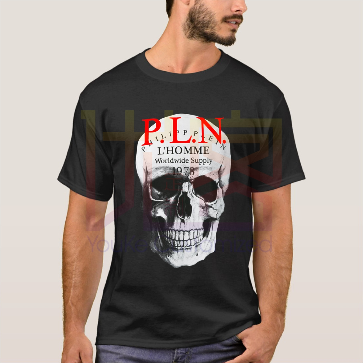 Retro Phillip Plein T-shirt Cotton Graphic Shirt Unoficial Stone-Island T-Shirt Hip Hop Novelty Men Brand Clothing T Shirt