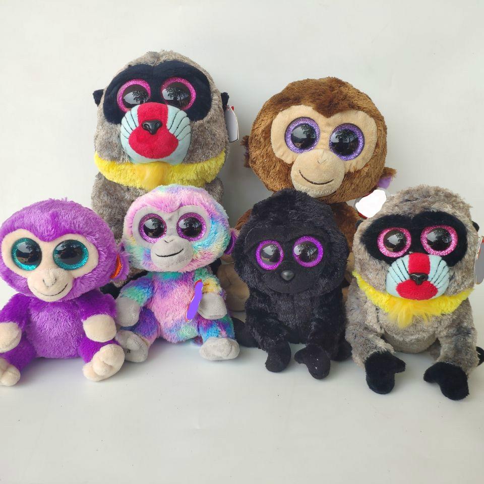 Plush Toys Christmas Gift Coconut Monkey George Gorilla Wasabi Baboon Zuri  Grape Dreamy Sloth Unicorn Cooper Sloth Monkey