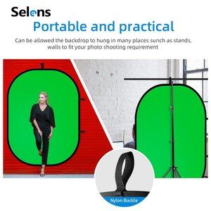 Image 3 - Selens 150x200cm 2 em 1 pano de fundo + refletor magnético suporte estúdio tela fotografia fundo para youtube vídeo studio