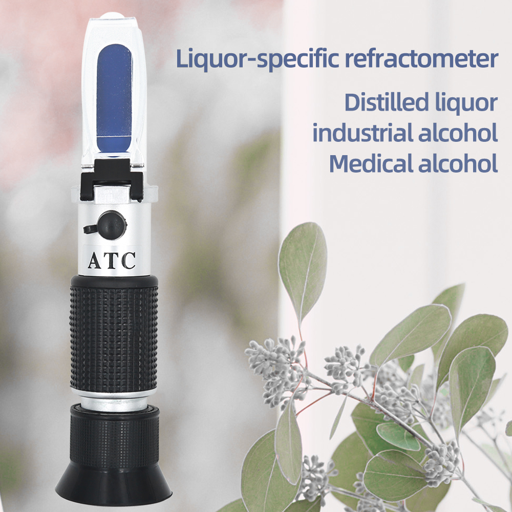 Hand Held 0-40% Brix 0-25% Alcohol Refractometer Tester For Alcohol Brix Wort Beer Wine Fruit Grape Sugar Saccharimeter 40%off