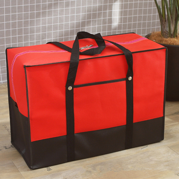 Thickened Non-woven Fabrics Storage Bag For Travel Toys Clothes Quilts Organizer Luggage Package Quality Finishing Bags S M L XL