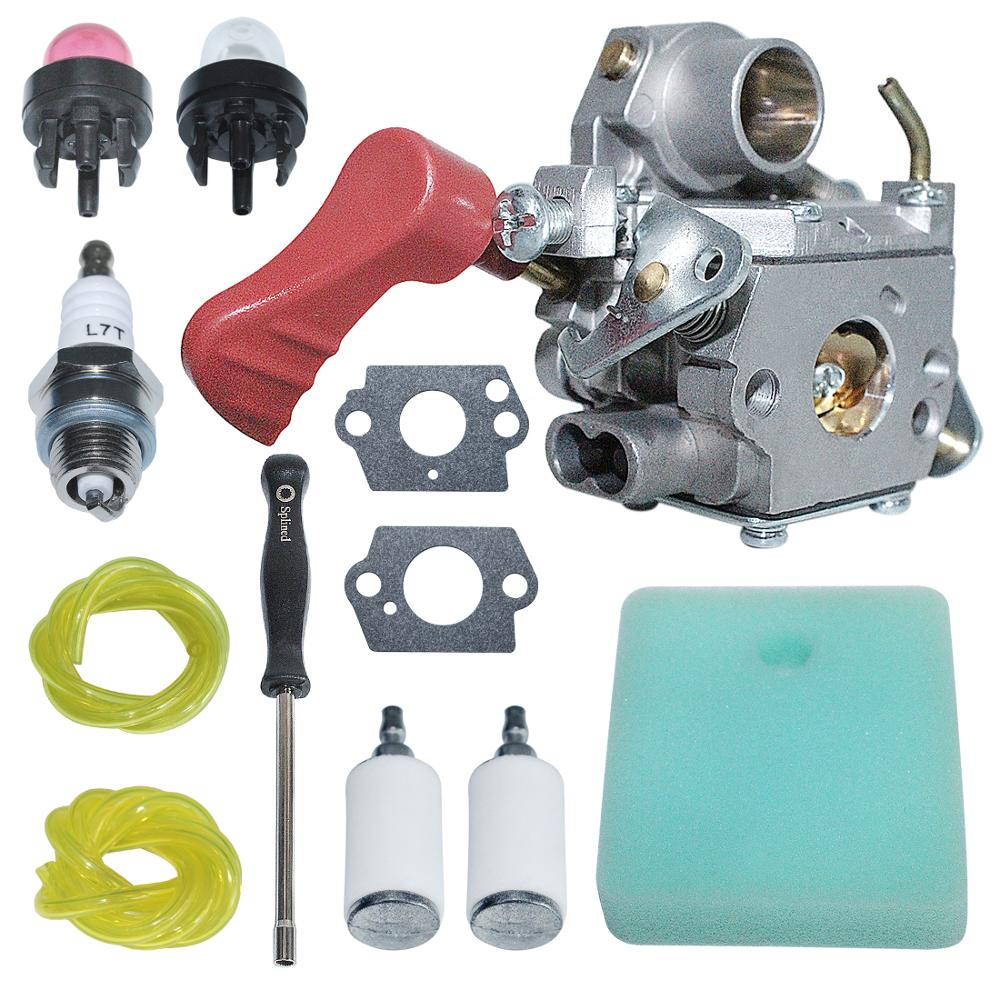 Tools : C1M-W44 Carburetor Carb with Air Fuel Filter Line Kit For Craftsman Poulan 33CC PP333 PP330  Gas Trimmer 545008042  ZAMA W44