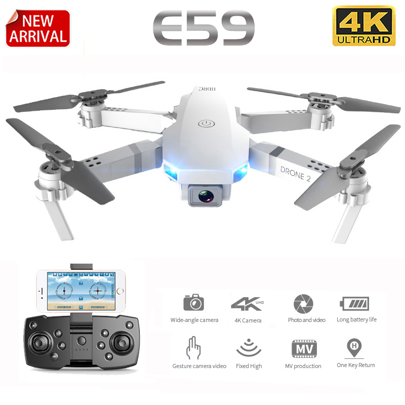 E59 RC Drone 4K HD Camera Professional Aerial Photography Helicopter 360 Degree Flip WIFI Real Time Transmission Quadcopter(China)