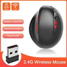 2400DPI 2.4G Wireless Mouse Gamer Ergonomic Optical Rechargeable for PC Gaming Laptops Mice with USB Receiver
