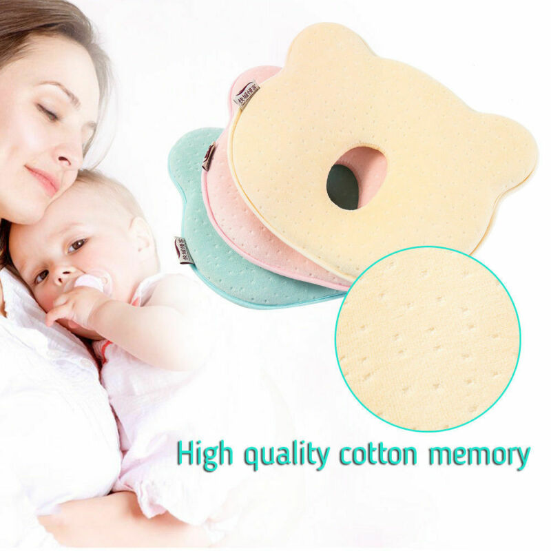 Newborn Infant Baby Pillow Memory Foam Soft Nursing Prevent Flat Head Cushion Shaping Pillow Sleeping Positioner Protect