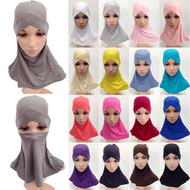Мусульманская шапка с полным покрытием из 100% хлопка, головной убор в стиле хиджаба Амира, головной убор в исламском стиле, Арабская Женская ...
