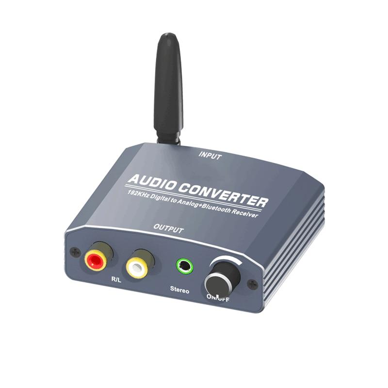 192 Khz Bluethooth Dac Digitaal Naar Analoog Audio Converter Met Bluetooth Ontvanger Ondersteuning 5.1CH Dts Met Volume Control Voor Telefoon 1