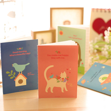 все цены на 1pcs/lot cartoon Fresh animal Kraft Paper Stationery Diary Notepad Planner Weekly Book Travel School Supplies онлайн