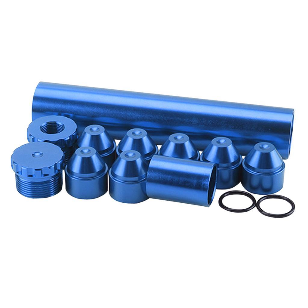11 шт. 6 дюймов 5/8 ''-24 автомобильный топливный масляный фильтр автомобильный топливный фильтр синий