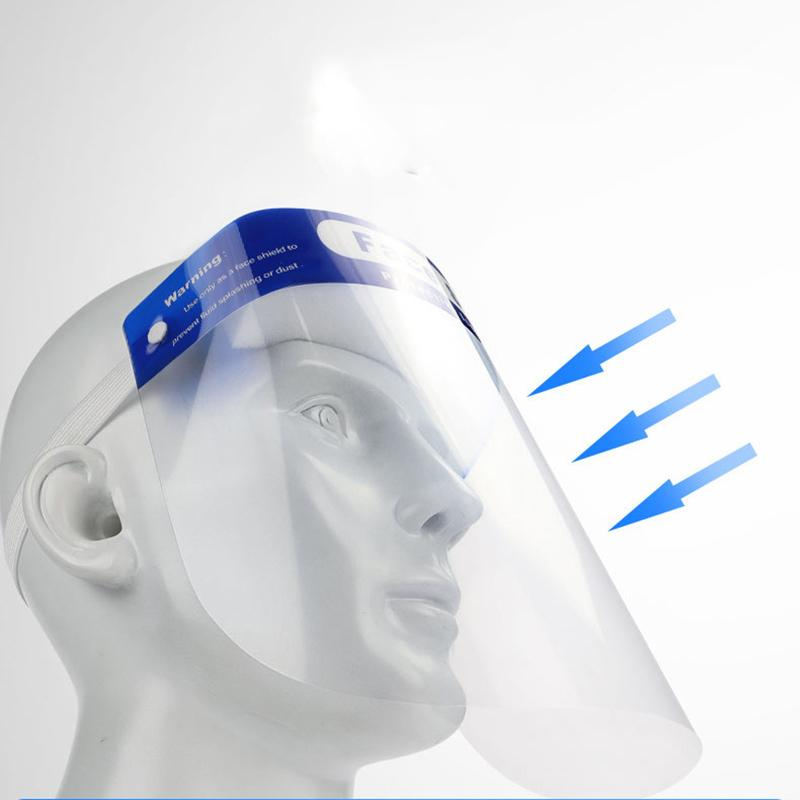 Face Shield Full Face Shield Mask Eye Protector Anti Fog Mask Cooking Nursing Nails Protective Film 34*22cm CE Certification