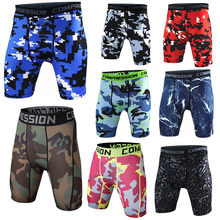 Ginásio leggings curtos dos homens da aptidão shorts de compressão dos homens correndo shorts de secagem rápida jogging musculação collants