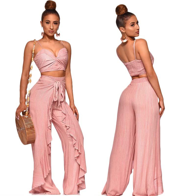Online Celebrity 2019 Spring New Style WOMEN'S Dress Fashion Korean-style Fashion Casual Sports WOMEN'S Suit Loose Pants Two-Pie