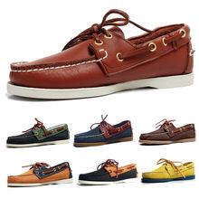 Туфли docksides из натуральной кожи для мужчин и женщин классические