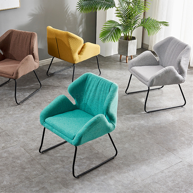 Fabric Single Sofa Chair Dining Chairs