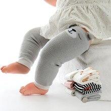 2020 детские носки мультфильм осень зима теплые ноги утеплители полосатые мультяшные милые Bbay ноги гетры младенцы нескользящие колено подкладка для детей