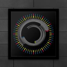 الجدة خشبية الإطار الزمني مربع ساعة الطاولة الدورية لوحة السهام الملونة ساعة حائط التصميم الحديث سطح المكتب الرسم الفن ساعة