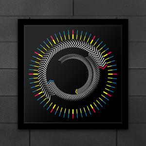 Image 1 - ความแปลกใหม่ไม้ Time กรอบตารางนาฬิกาแผ่นหมุนลูกศรที่มีสีสัน Wall CLOCK ออกแบบโมเดิร์นเดสก์ท็อป Graphic Art นาฬิกา