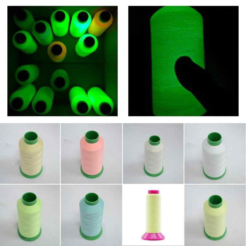 1000 metri Luminoso Glow In The Dark Macchina Da Cucire Fili da Ricamo Craft Patch Volante Da Cucire Accessori #734