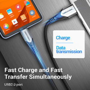 Image 5 - Vention 3A מיקרו USB כבל טעינה מהירה חוט עבור אנדרואיד טלפון נייד נתונים סנכרון מטען כבל 3M 2M עבור סמסונג HTC Xiaomi Sony