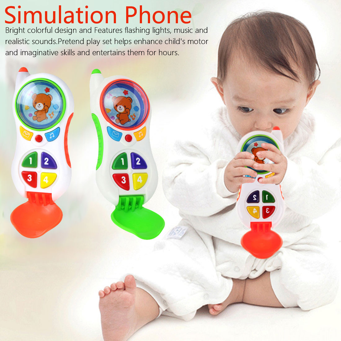 Child Music Phone Learning Study Baby Cell Phone Toys Educational Toy Promotion Funny Baby Toys With Sound And Light