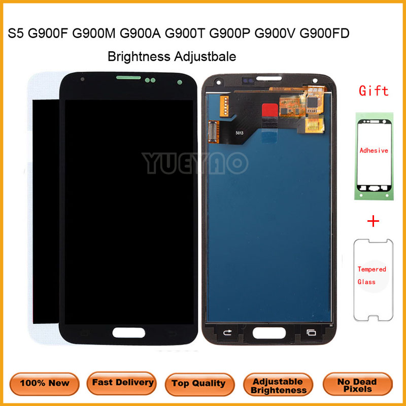 For <font><b>Samsung</b></font> S5 <font><b>G900F</b></font> LCD <font><b>Display</b></font> Screen Touch Digitizer Assembly Compatible for <font><b>Samsung</b></font> Galaxy S5 G900 G900A G900T G900I LCD image