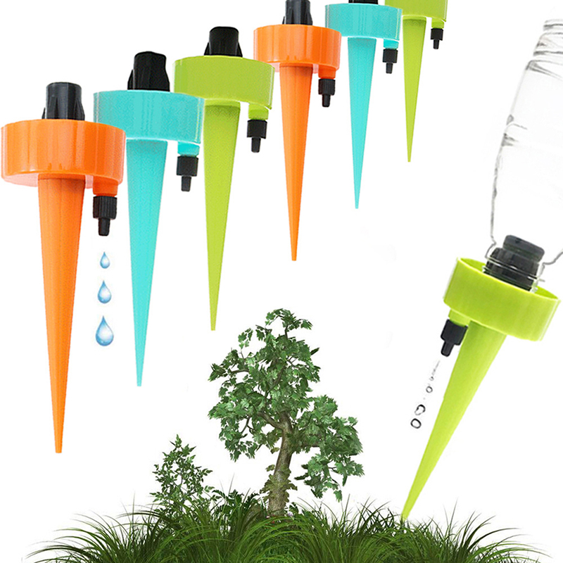 6 stücke Tropf Bewässerung System Pflanze Bewässerung Automatische Spike Einstellbare Waterer