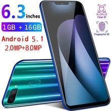 Smartphone M8 Global Version 1gb RAM 16gb ROM Smart Cell Phone Quad core 6.3 inch Telephone Dual Sim