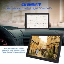 HD Portable TV D14 14 Inch DVB-T2 ATSC Digital Analog Audio Television Mini Small Car TV Support MP4 AC3 HDMI Monitor for PS4(China)