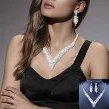 Bridal-Jewelry-Sets Crystal Rhinestone PEARL Wedding BLUE Women RED Bijoux Mariage