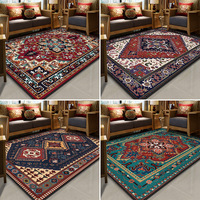 Persian ethnic style printed Home carpets for Living room Bedroom Area Rug Crystal velvet Thicken Antiskid Soft Floor Mat/Carpet